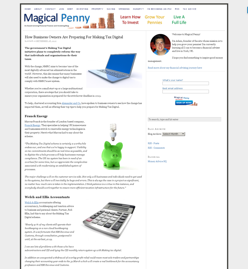 We've been featured in Magical Penny's recent article on How Business Owners Are Preparing For Making Tax Digital